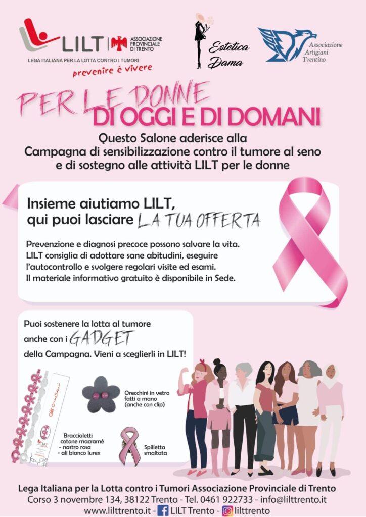 GADGET che sostengono LILT nella Campagna Nastro Rosa prevenzione e diagnosi tumore al seno