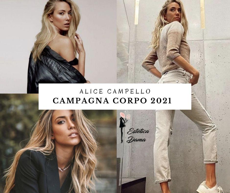 Alice Campello campagna corpo 2021